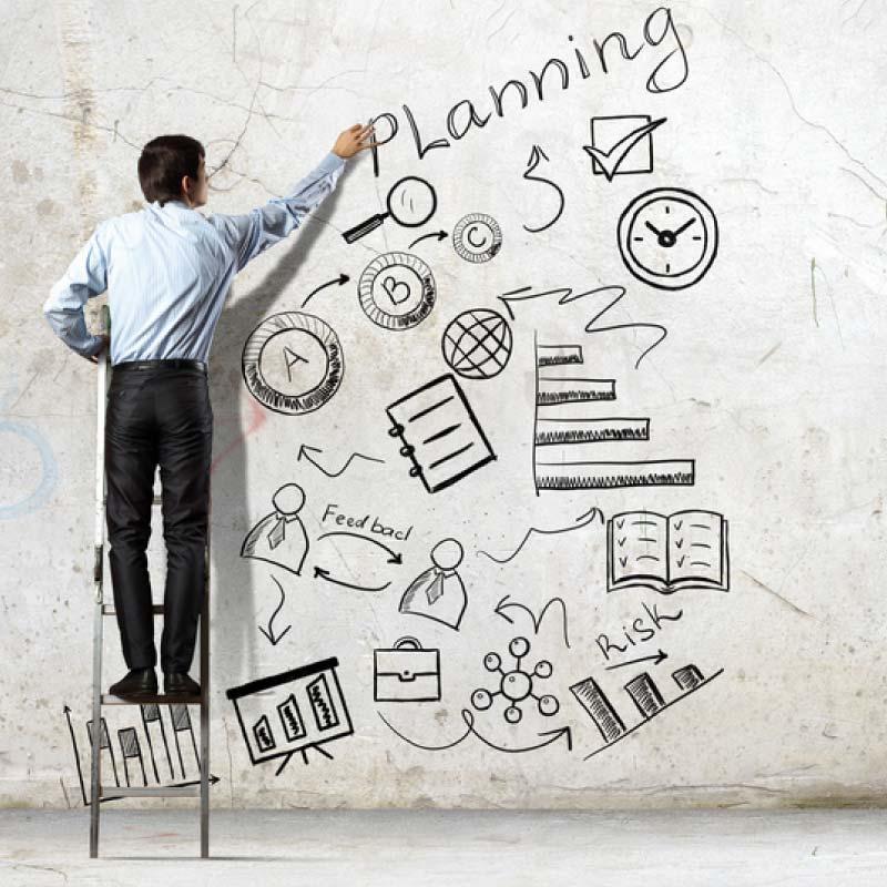 planning social media content image