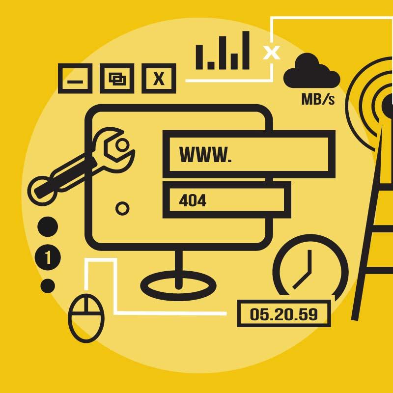 web maintenance image
