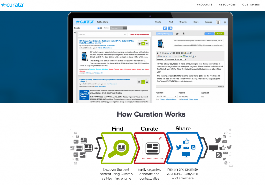Curata Curation Software