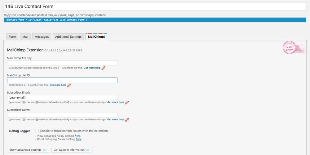 The MailChimp plugin for Contact Form 7 by ThemeCo