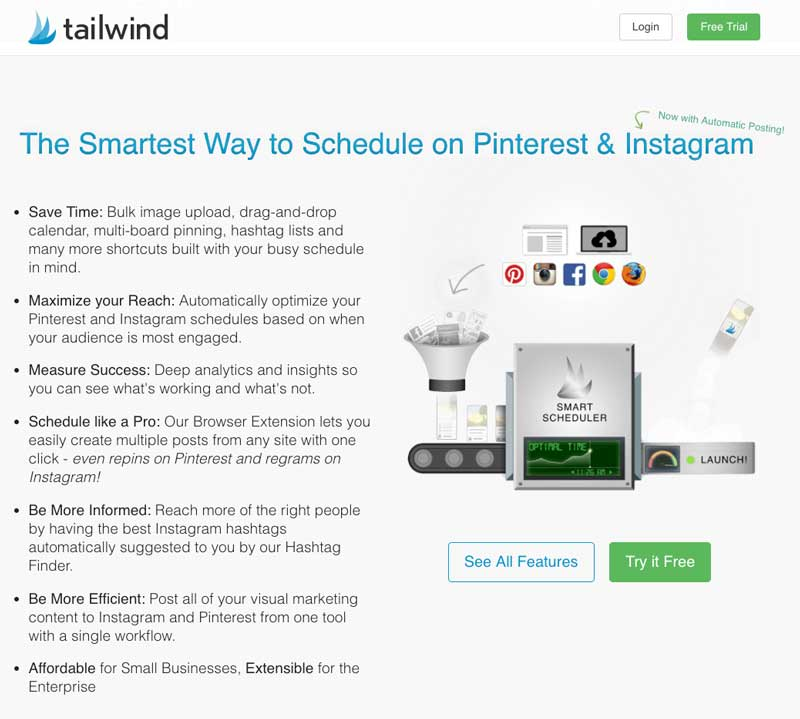 Tailwind for Pinterest screenshot